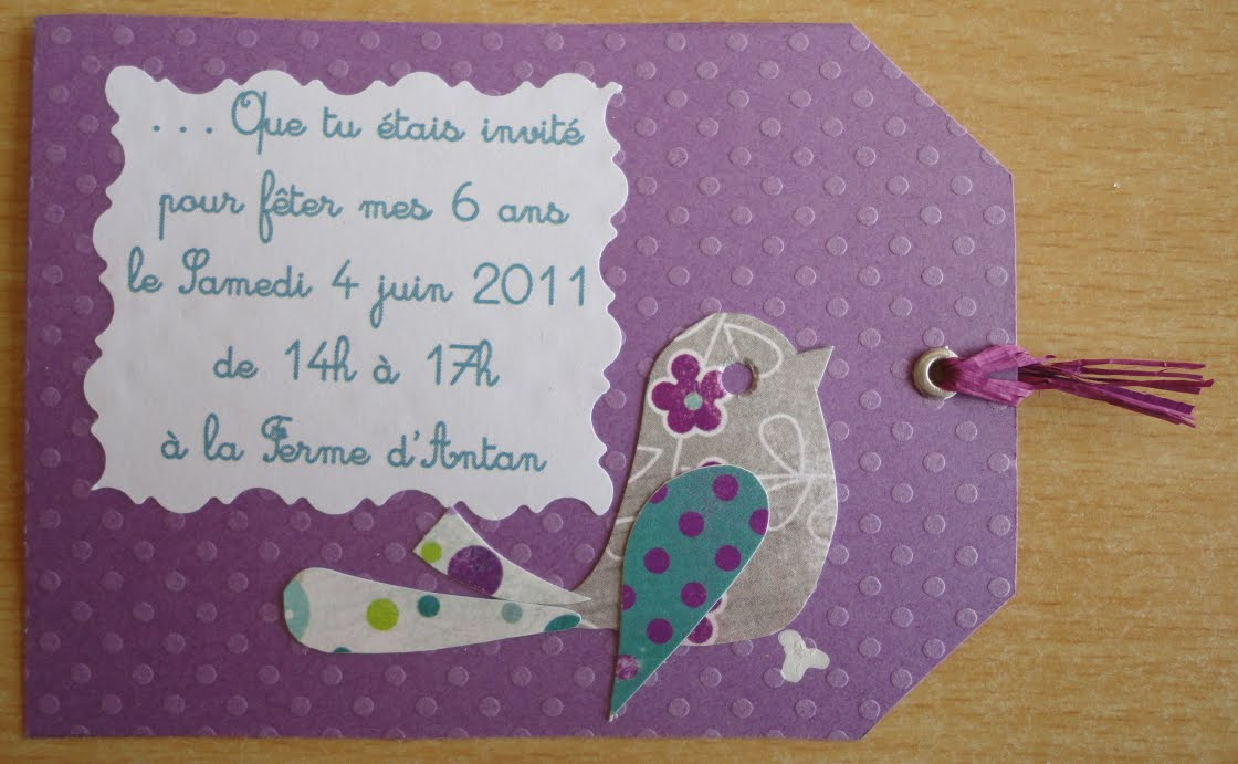 Bien-aimé L'atelierscrap d'Aurore: Carton d'invitation scrap pour l  KS27