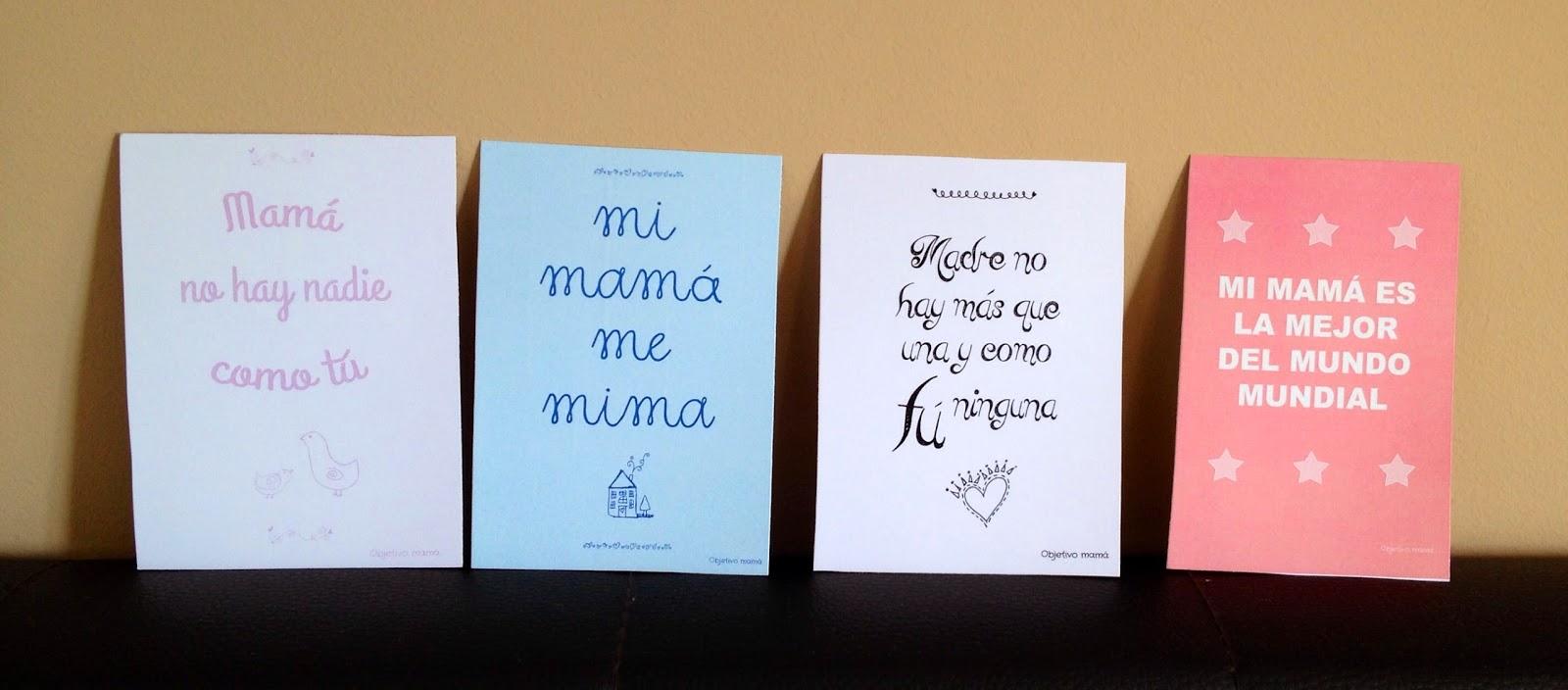 Objetivo mamá: Imprimibles para el Día de la Madre