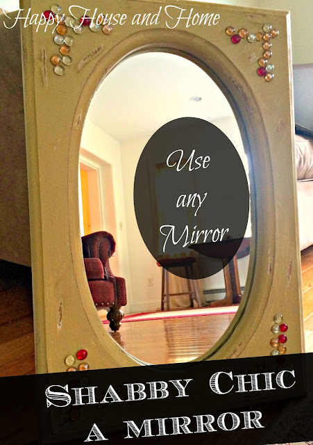 shabby Chic, DIY mirror, upcycle mirror