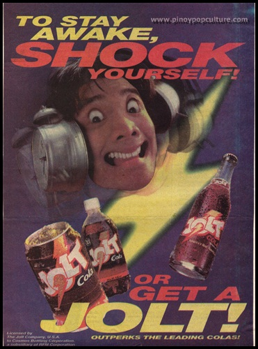 Jolt Cola, advertisements, commercial models, Diether Ocampo
