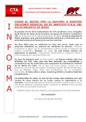 SOBRE EL JUICIO POR LA SANCIÓN A NUESTRO DELEGADO SINDICAL EN EL SERVICIO O.R.A. DEL AYUNTAMIENTO D