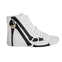 Sammi Jackson - Be&D printed canvas high top trainers