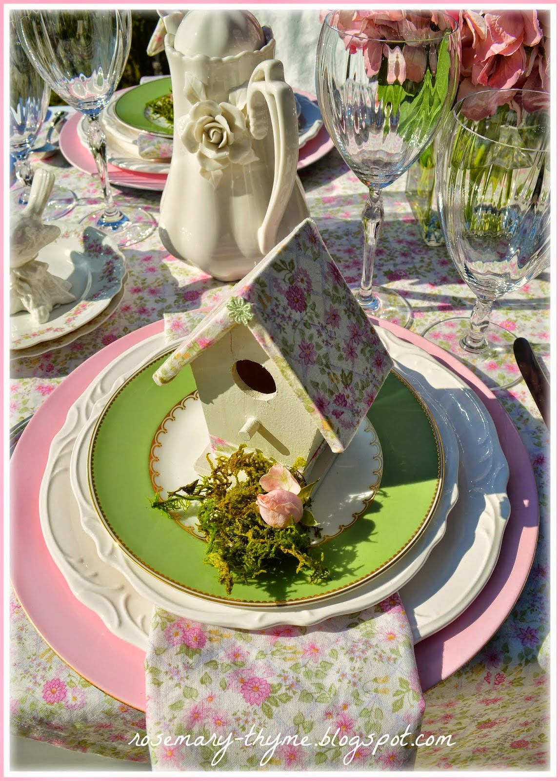 Rosemary Thyme Shared her Pink Splendor featured at One More Time Events.com