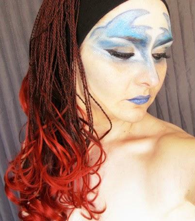 caracterización, circo au soleil, circo del sol, azul