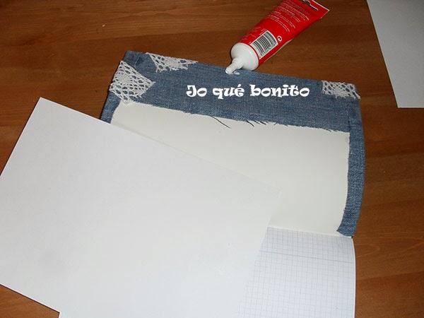 Cuaderno forrado con tela vaquera