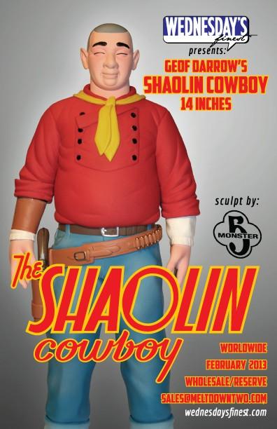 Shaolin Cowboy 14 Inch Vinyl Figure by Geof Darrow