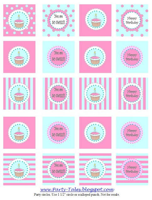 Party-Tales: ~ Party Printable ~ Cupcake toppers and Invitations {Free ...