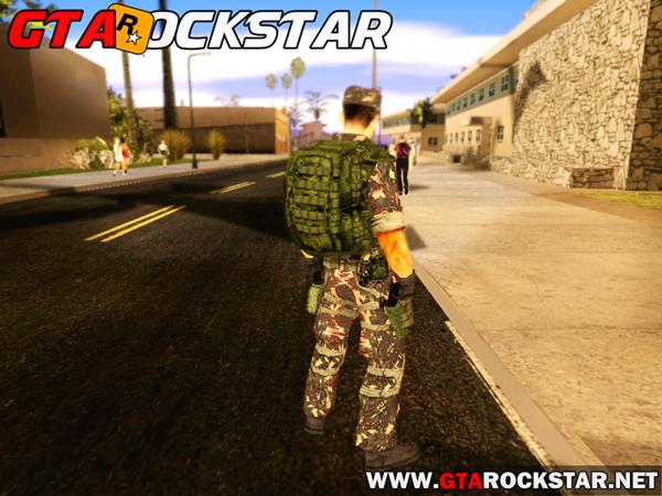 GTA SA - Skin Soldado do Exército Brasileiro em HD
