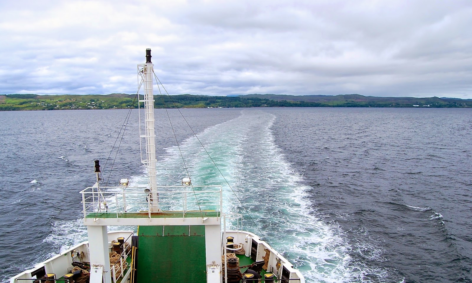 Wake of a ferry boat
