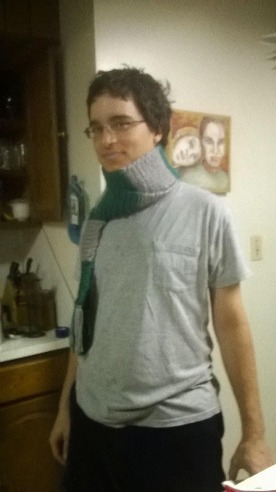 Slytherin scarf, suspicious