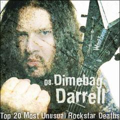Top 20 Most Unusual Rockstar Deaths: 08. Dimebag Darrell