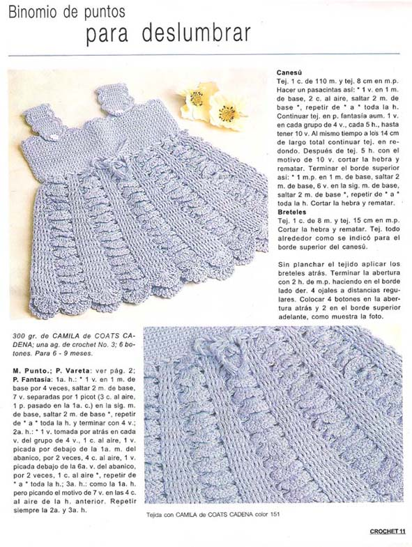 Ropa de bebé a crochet con patron - Imagui
