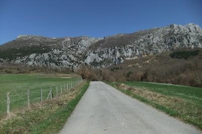 Vistas de Lezea desde el cruce de Ilarduia