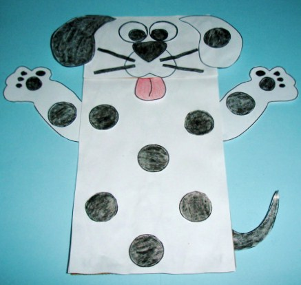 Learning ideas grades k 8 dog paper bag craft and books for Dog craft ideas