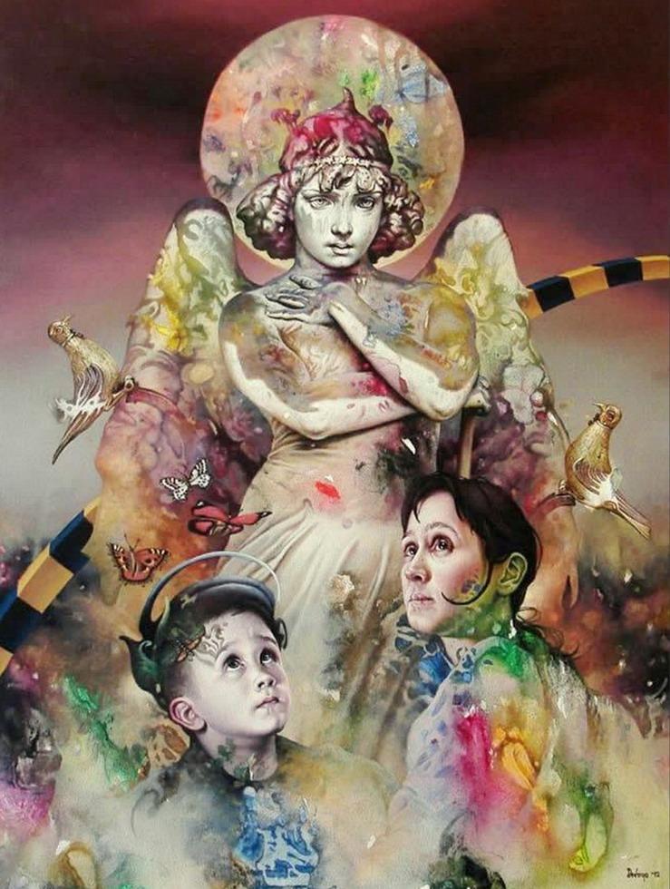 Pintura Moderna y Fotografía Artística : Cuadros Raros de Mujeres de ...