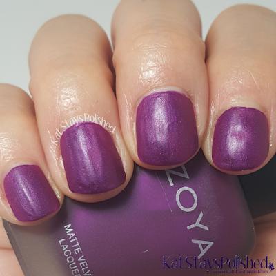 Zoya Matte Velvet 2015 - Iris | Kat Stays Polished