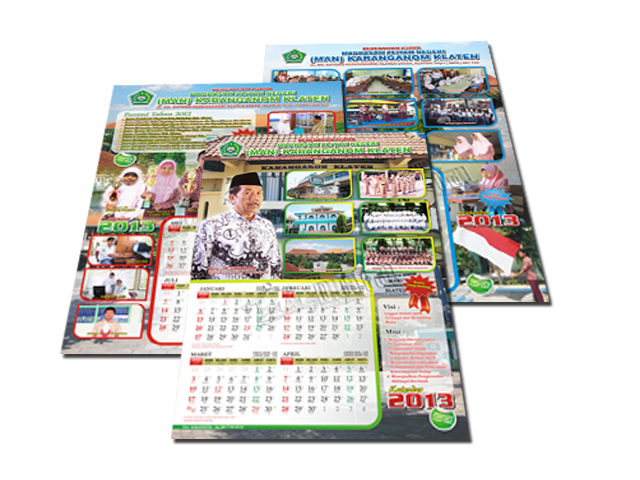 Design kalender dinding for Kalender design