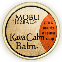 MOBU Herbals Kava Calm Balm helps to relieve stress and anxiety