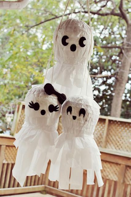 fiesta halloween ideas piñata DIY manualidades kids peques chuches caramelos golosinas