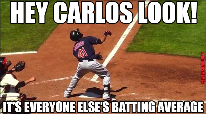 Carlos Santana didn't start hitting until I posted this to Twitter