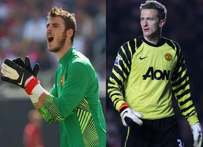 Manchester United Goalkeeper Anders Lindegaard David De Gea