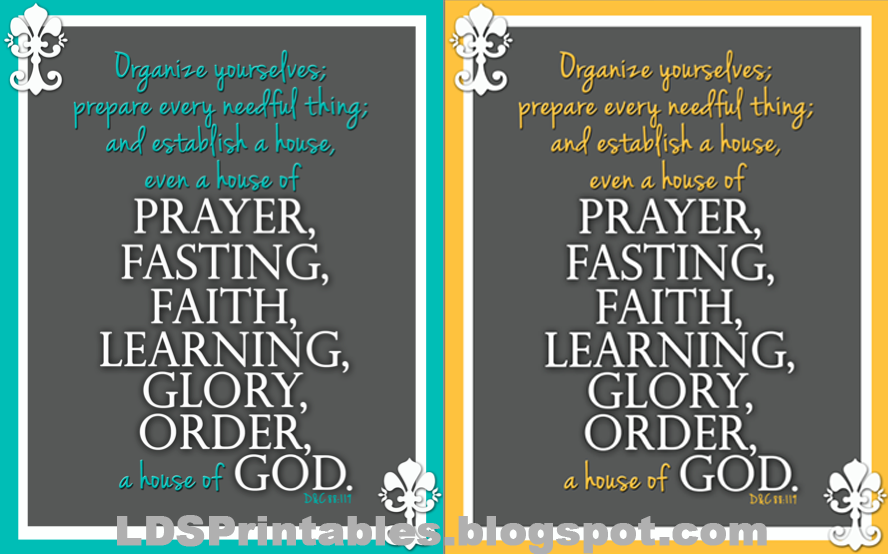 Lds Printables Our House Motto