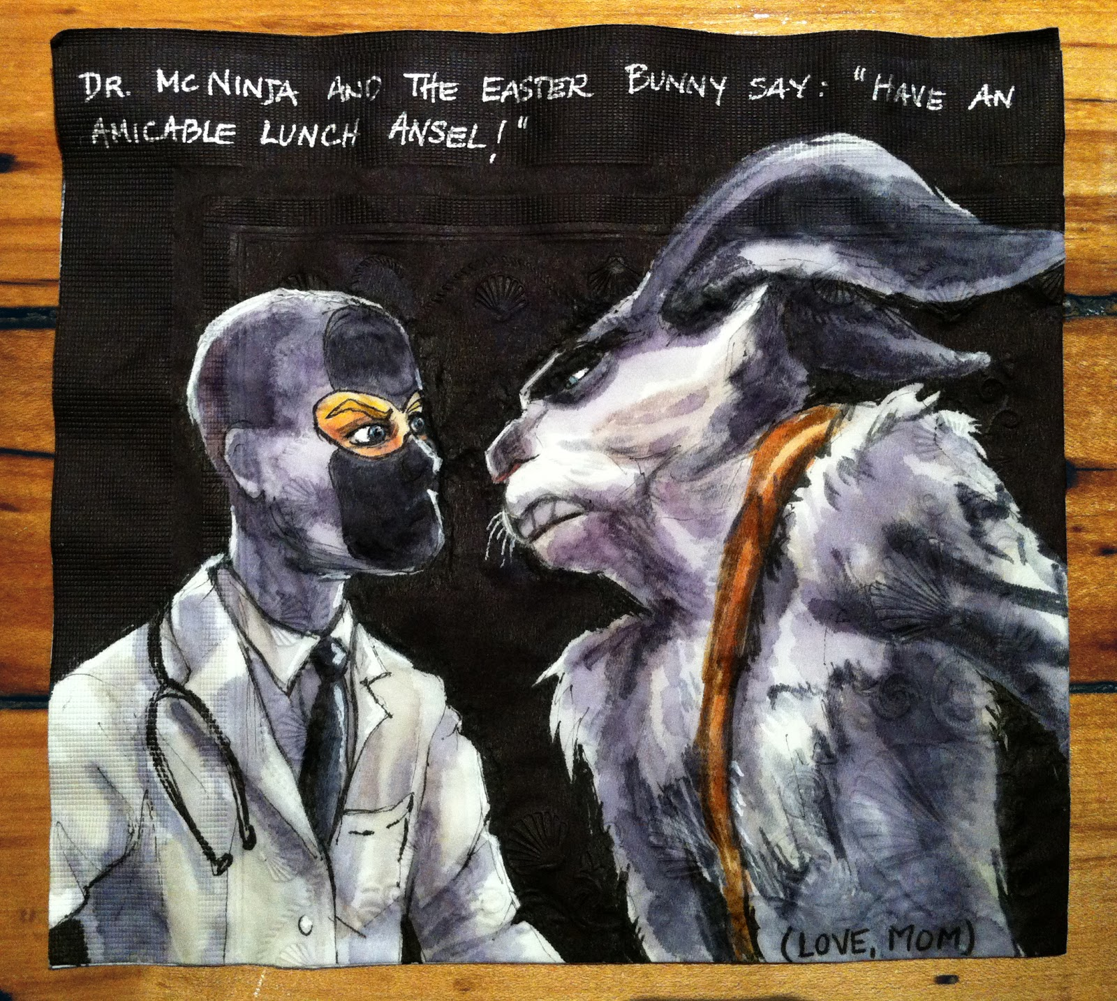 Dr McNinja And The Rise Of Guardians Easter Bunny For Ansel