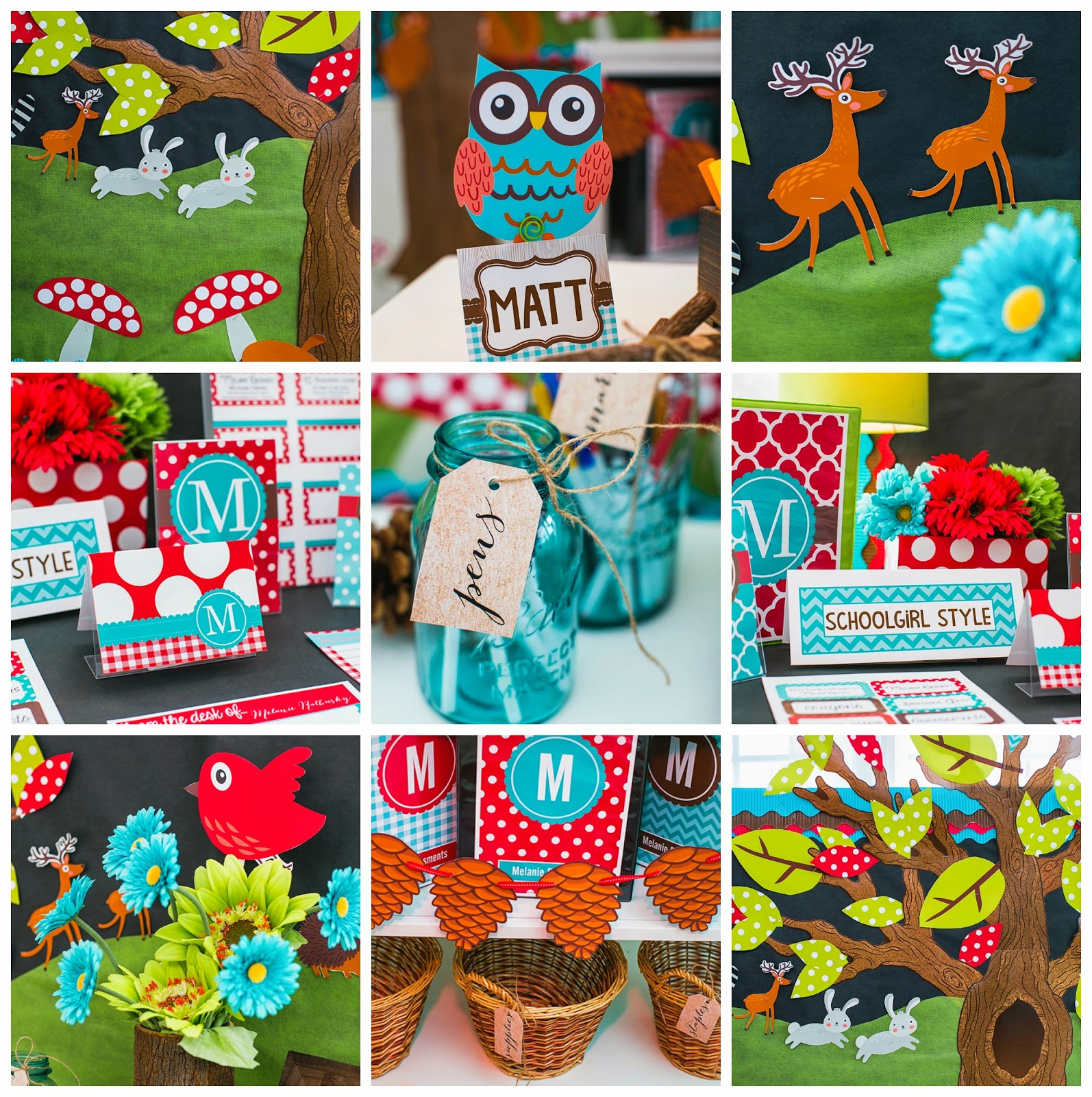 Woodland Classroom Decor ~ Schoolgirl style reveal woodland animal collection the