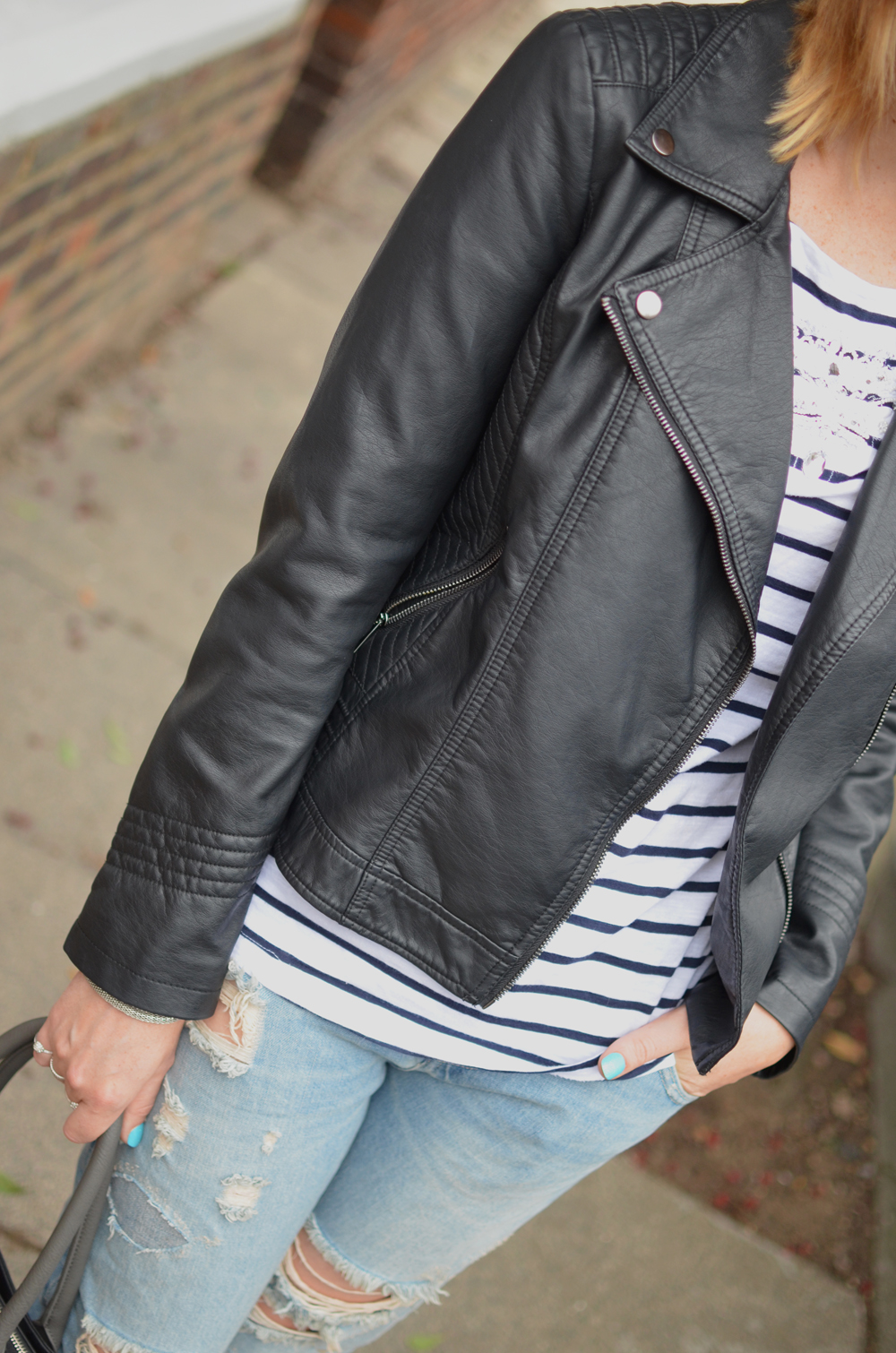 LEATHER-BIKER-JACKET-STRIPED-TEE