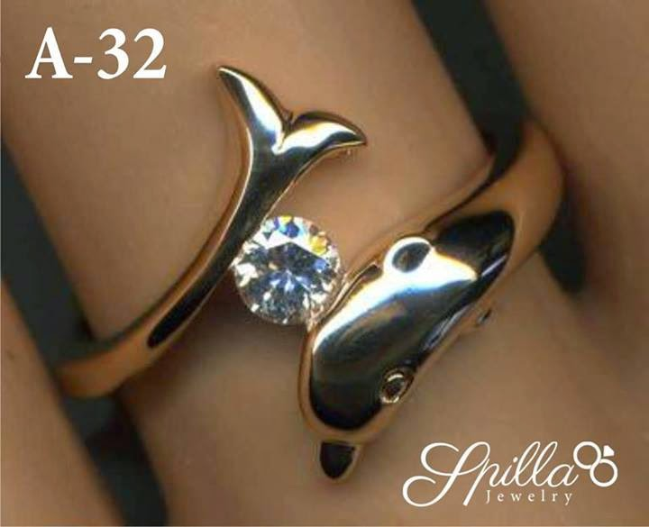 Cincin Single Doplhin