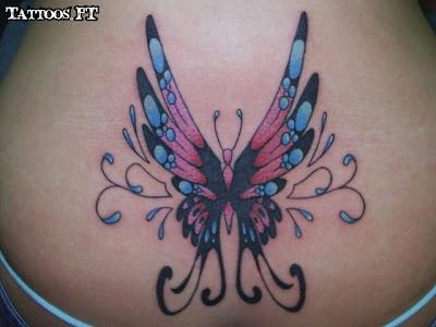 Tatuagem com borboleta colorida
