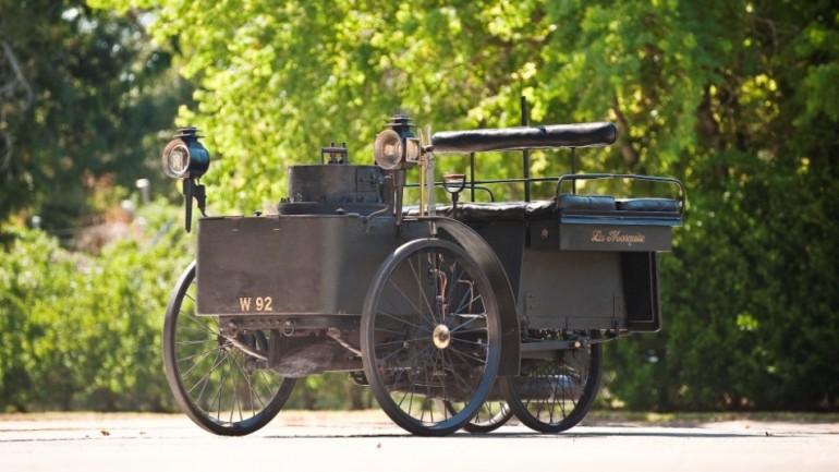 Kereta tertua di dunia yang masih boleh berjalan akan dilelong - 1884 De Dion Bouton Et Trepardoux Dos-A-Dos Stim Runabout