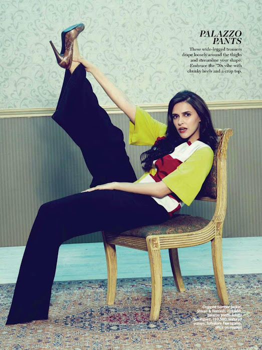 Neha dhupia high heels hot pic - (2) -  Neha Dhupia Cosmopolitan May 2012