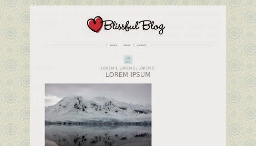 Blissful Blog - Free Blogger Template