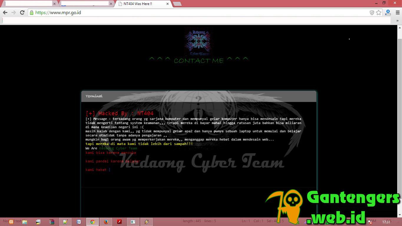 Website Resmi MPR Diretas Oleh NT404