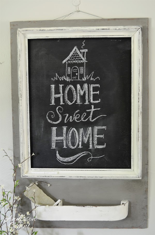 Handmade Chalkboard Message Center from Anderson and Grant on Storenvy $60.00