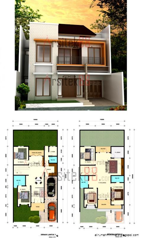 model rumah minimalis dan denah design rumah minimalis
