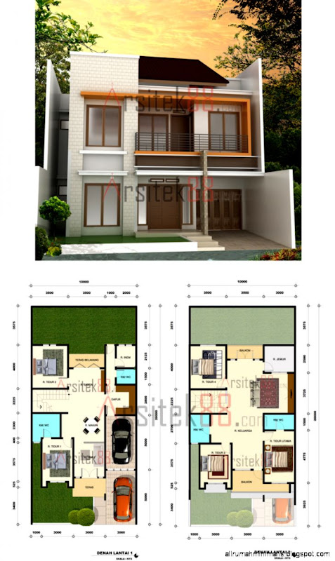 gambar rumah minimalis dan denahnya