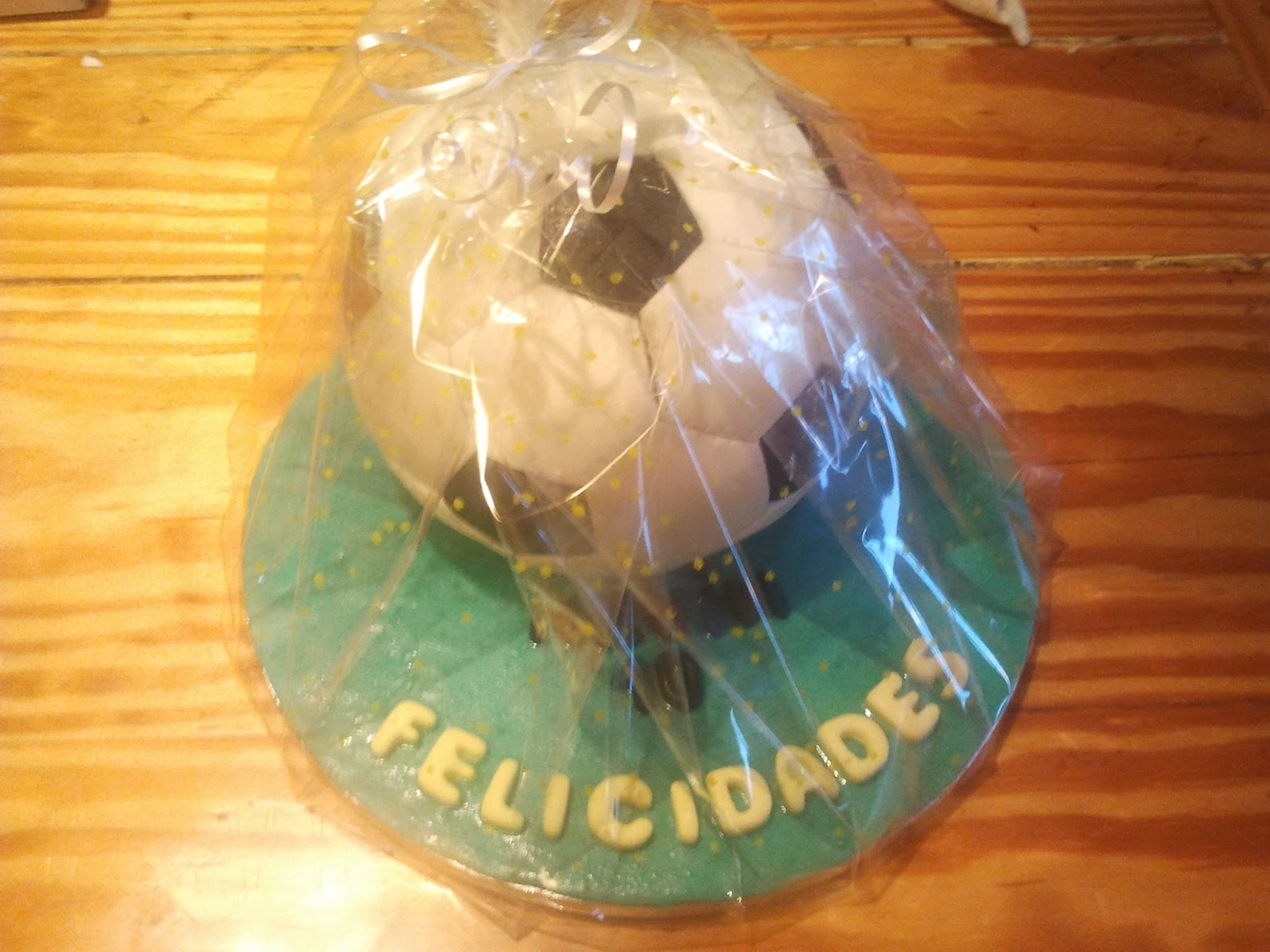 Tarta balon de futbol imaginarte tartas - Empaquetado de regalos ...