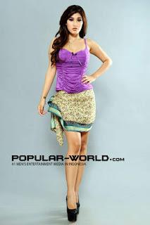 Ibe Keyla Model Majalah Popular Word, BFN Mei 2013