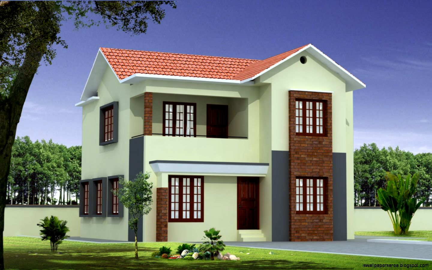 New home building designs wallpapers area for New latest house design