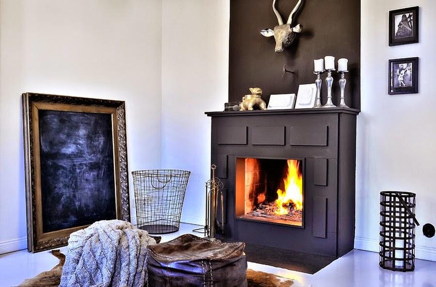 wystrój wnętrz, home decor, wnętrza, mieszkanie, dom, aranżacje, białe wnętrza, salon, kominek