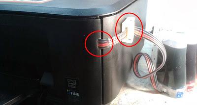 Принтер с установленной СНПЧ