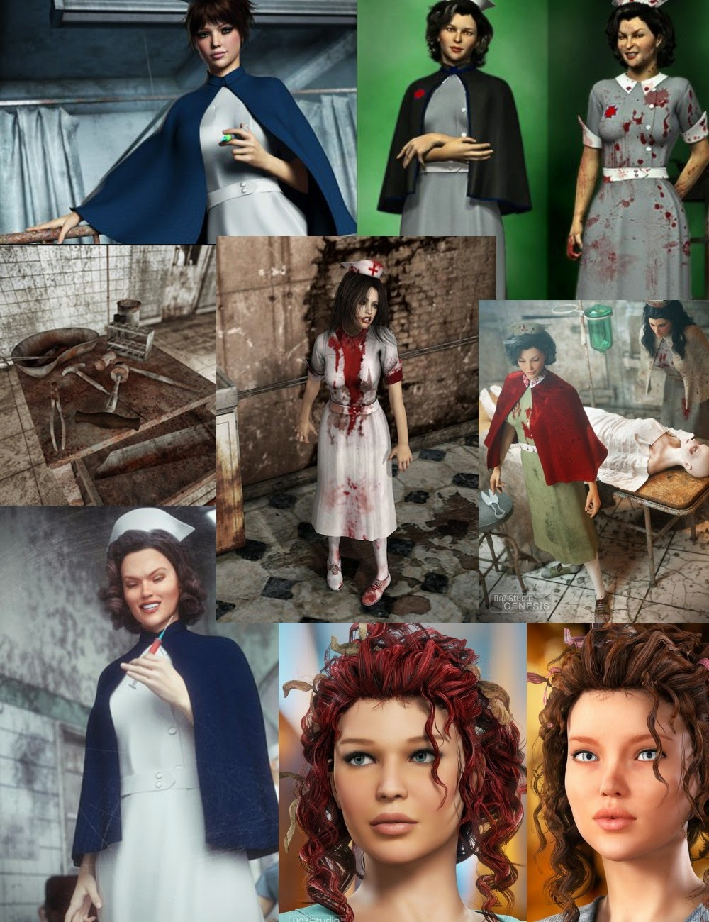 3d Models - Horror Story 2 Bundle