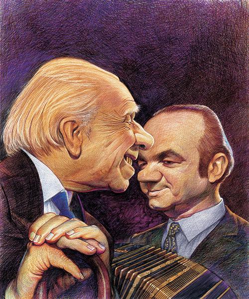 Astor Piazzola y Jorge Luis Borges