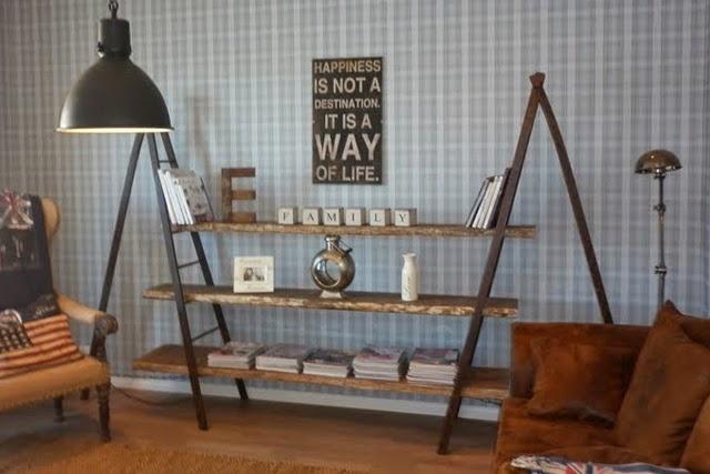 Bricolage e decora o estantes feitas com escadotes - Estantes reciclados ...