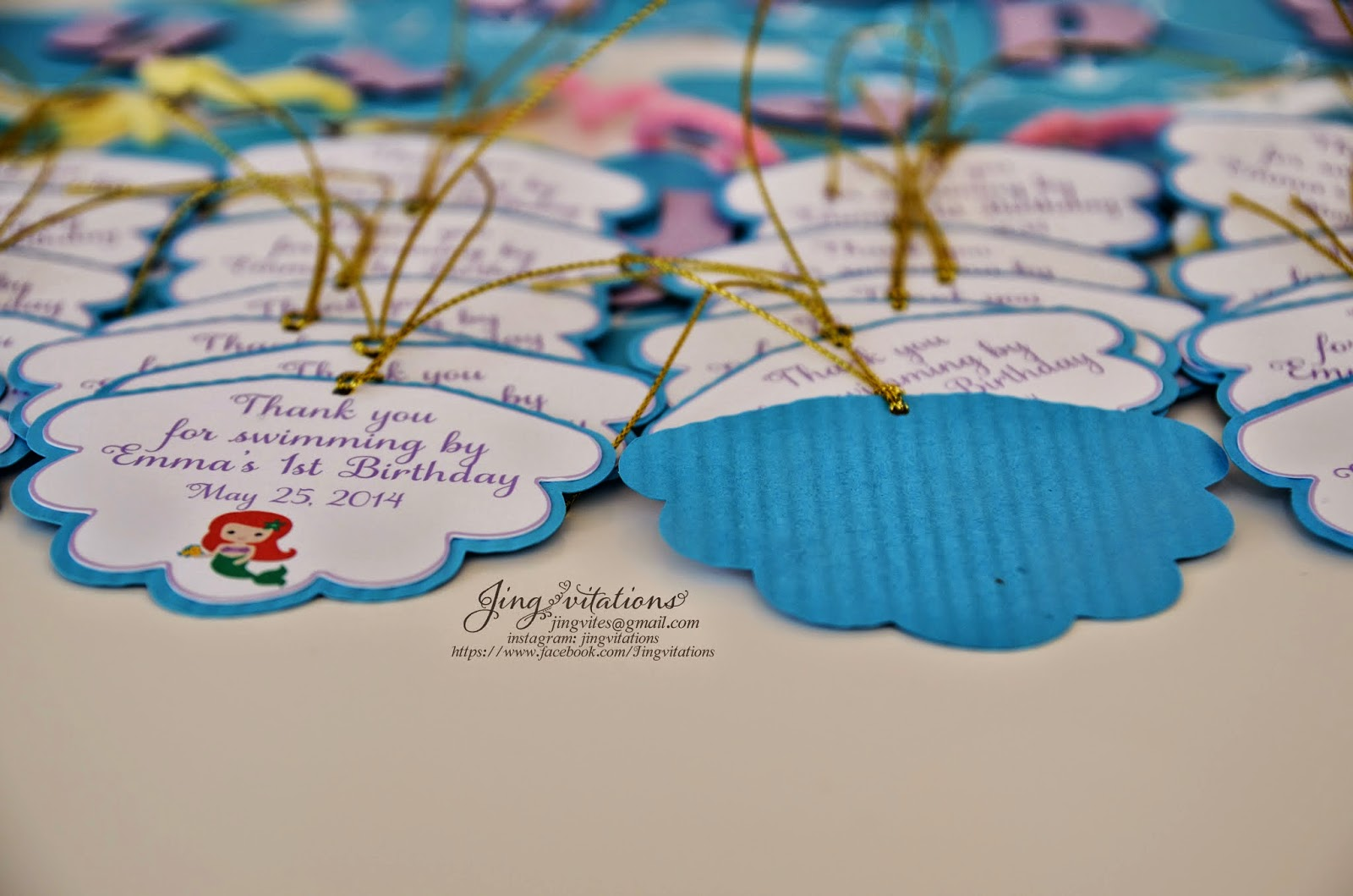 Birthday and Baby Shower Invitations little mermaid