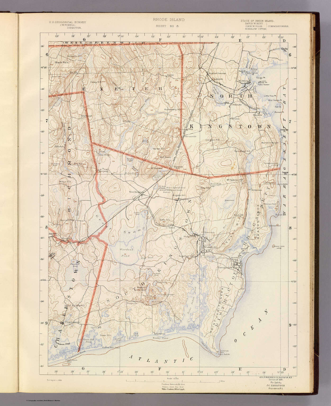 Genealogys Star Travels On The Web Resources For Genealogists - Rhode island in usa map