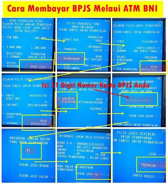 Cara Bayar Iuran BPJS Lewat ATM BNI