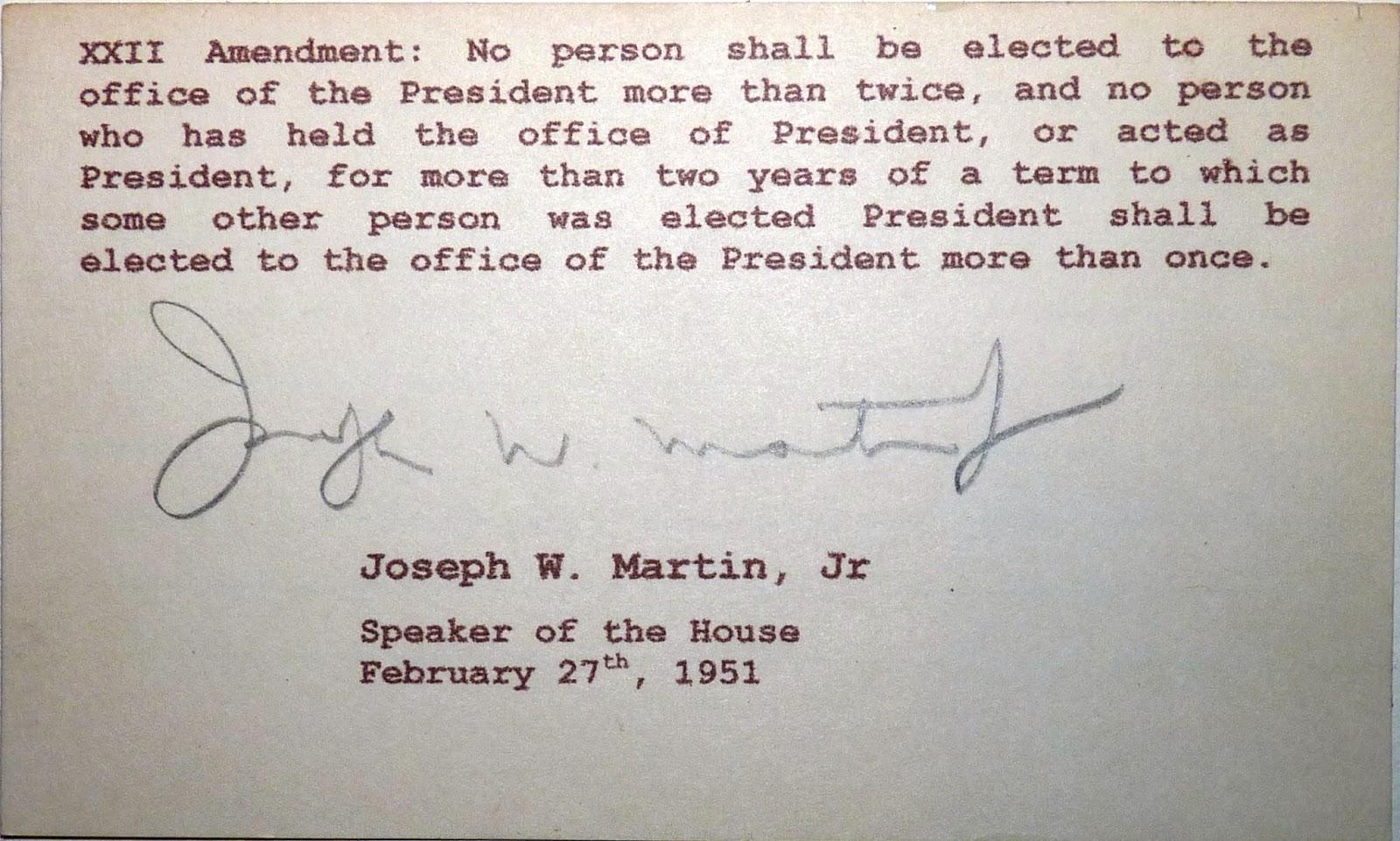 Twentysecond Amendment to the United States Constitution